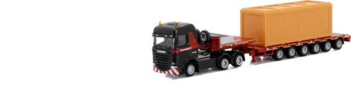 Mammoet scania streamline 6x4 semi low loader 6 axle + wooden box